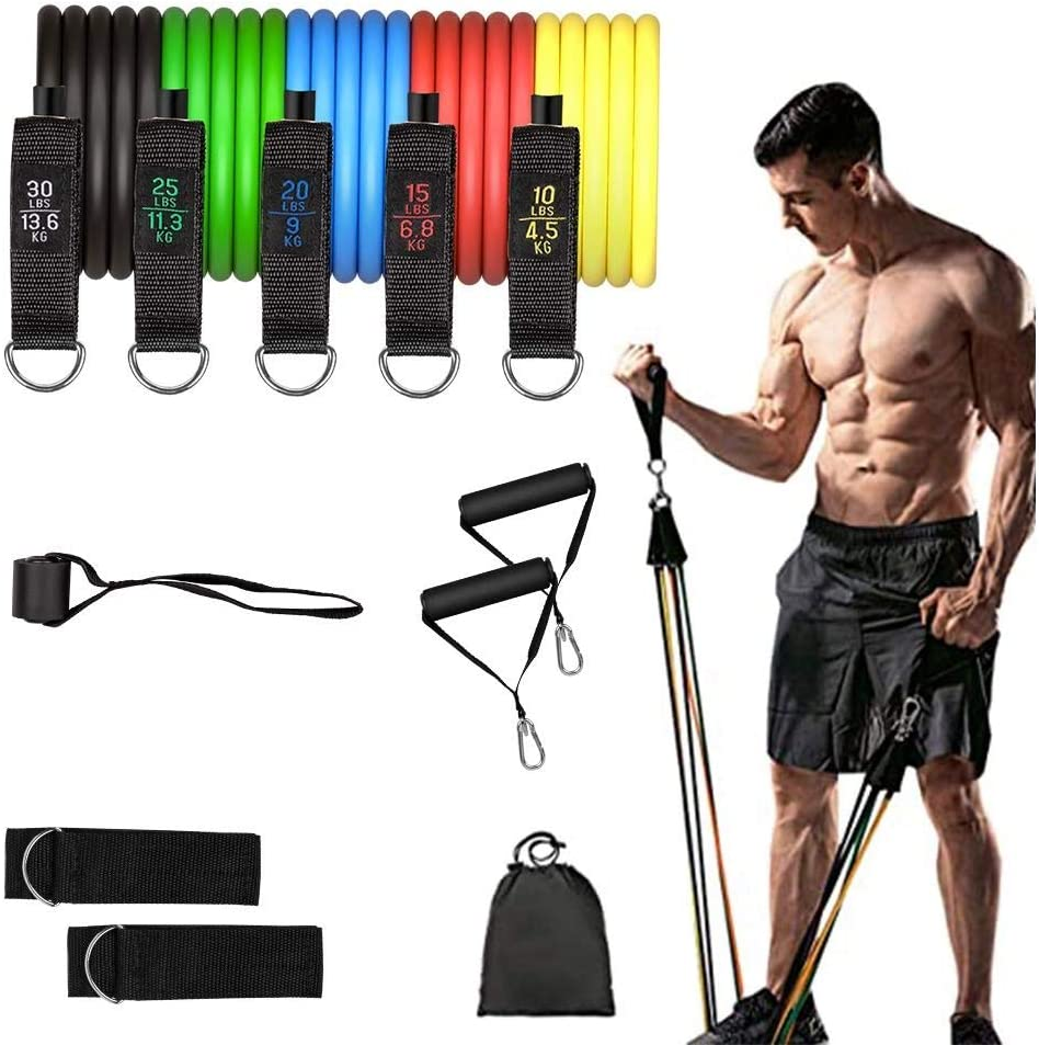 Fitness Resistance bands D ring Doors Anchors Elastic Bands For Fitness