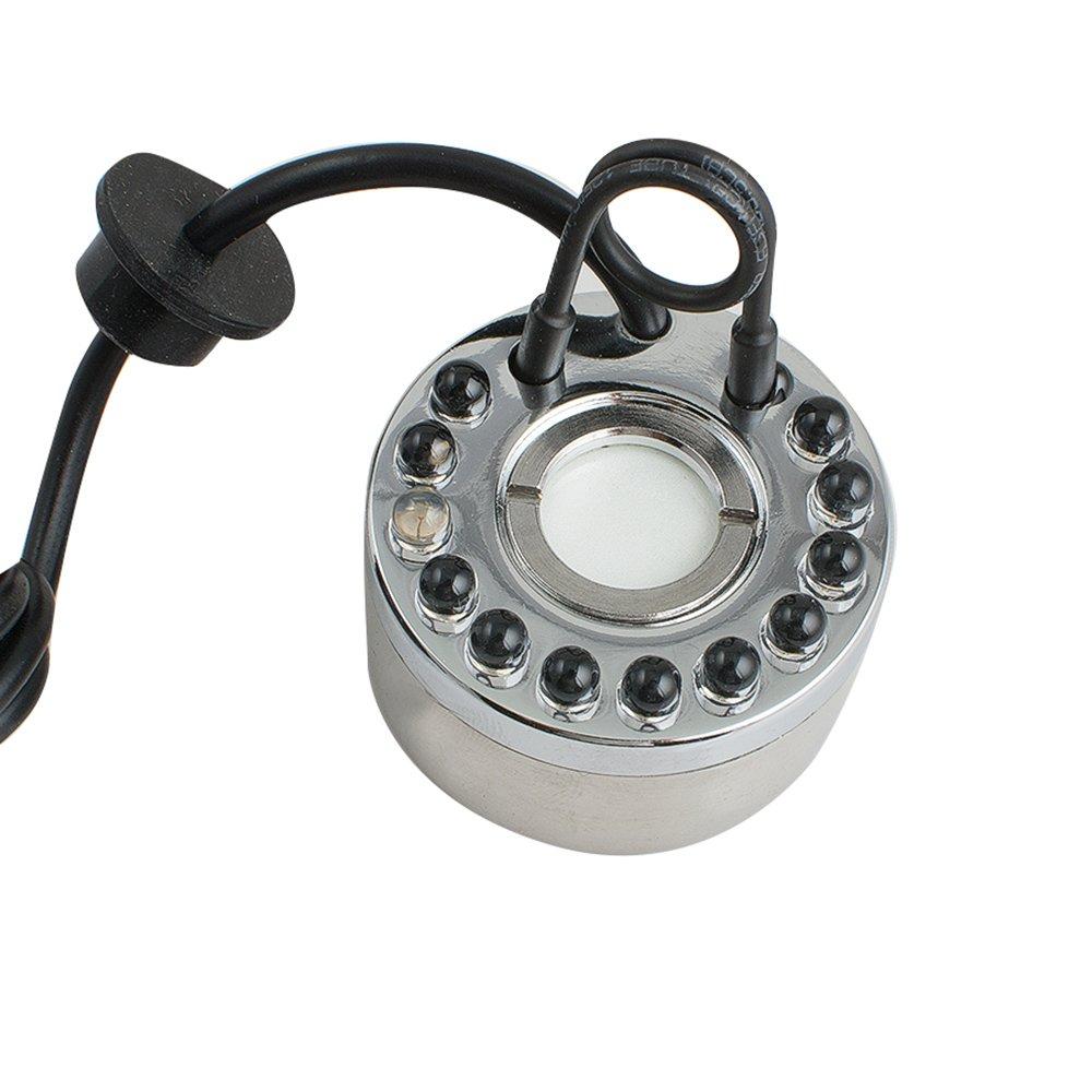 ixaer Mist Maker Fogger 1 head ULTRASONIC MIST MAKER 110V Fogger Humidifier for Gardening and Pond Use