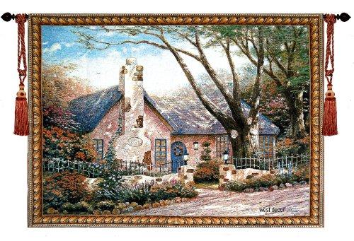 (Beautiful Morning Glory Fine Tapestry Jacquard Woven Wall Hanging Art Decor)