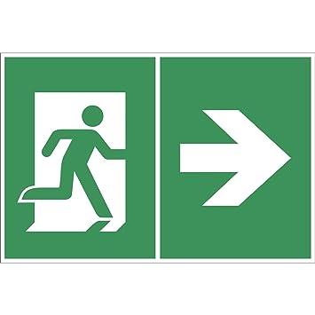 BENDER Salvavidas Cartel Símbolo: Flecha/Salida de ...