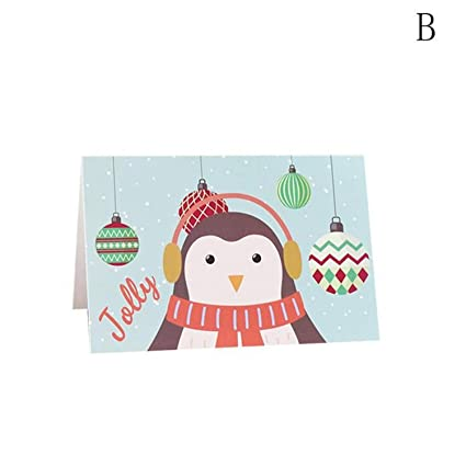 chitop 1pc creation snowflakes cartoon fashion christmas new year invitation card greeting card party invitation card