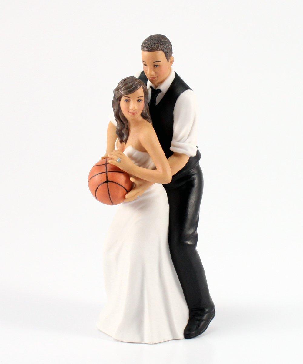 Weddingstar Basketball Dream Team Bride and Groom Couple Figurine for Cakes, Ethnic by Weddingstar Inc. (Image #1)