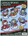 Design Works Crafts Welcome Winter Cross Stitch Ornament Kit 4""