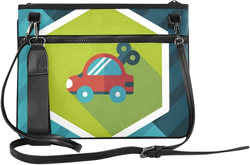 Childrens Favorite Toy Bike Pattern Custom High-grade Nylon Slim Clutch Bag Cross-body Bag Shoulder Bag