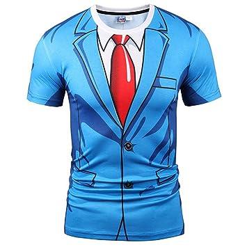 52c15486cc3fdd YDYF T-Shirt Männer Frauen Mode 3D-Tshirt Drucken blauen Anzug Jacke Sommer