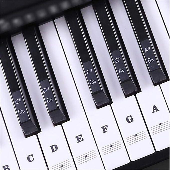 SinceY Juego Completo de Pegatinas para Teclado de Piano ...