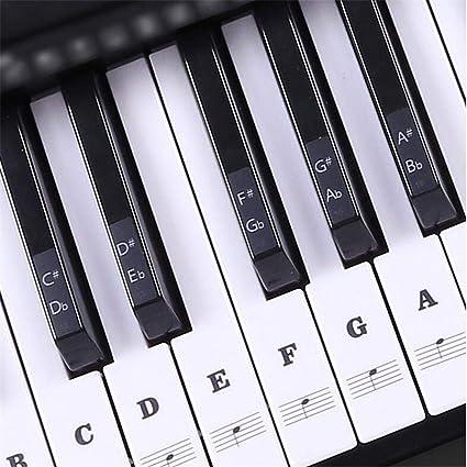 SinceY Juego Completo de Pegatinas para Teclado de Piano 88/61/54 Teclas extraíbles