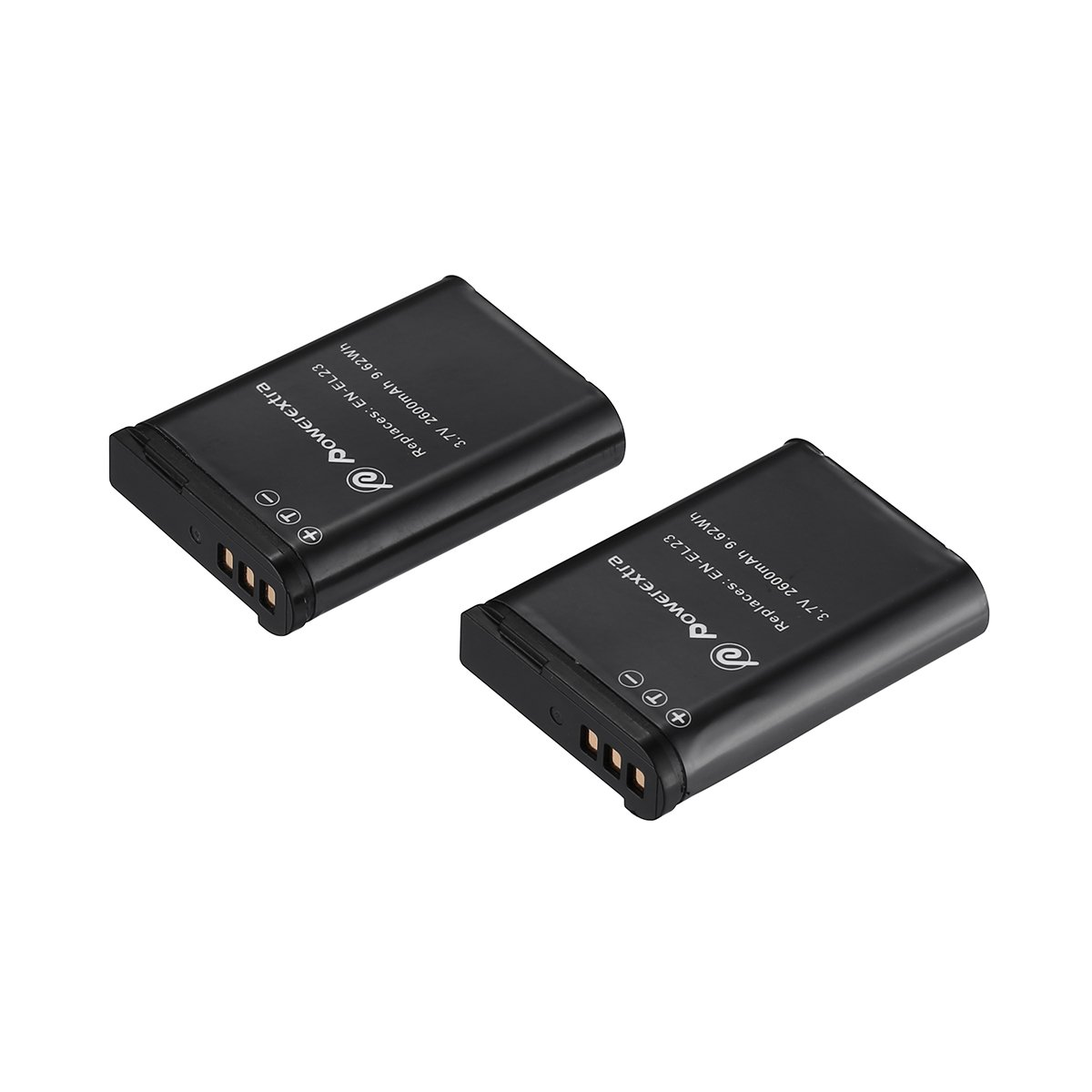Powerextra 2 Pack Nikon EN-EL23 2600mAh High Capacity Replacement Battery Compatible with Nikon Coolpix P600, P610, B700,P900, S810c