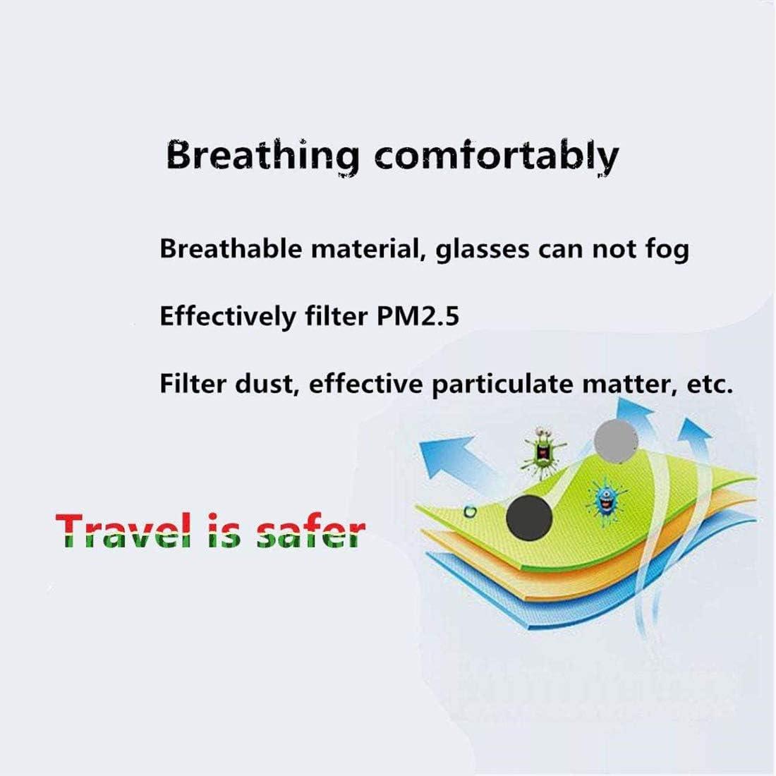 T-XYD Protection du Visage au Charbon Actif R/éutilisable Lavable Respirant Contre la Pollution Pollen Poussi/ère Housse de Protection pour Le Cyclisme en Plein air