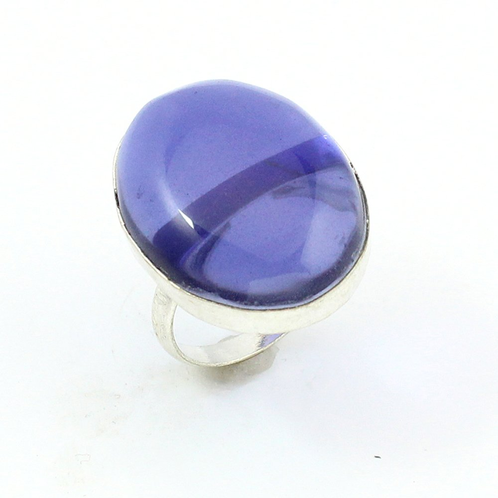 silverjewelgems BEST QUALITY AMETHYST QUARTZ FASHION JEWELRY .925 SILVER PLATED RING S12525