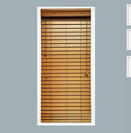 TailorView, Faux Wood Crown Valance for Horizontal Venetian Window Blinds, Oak, Inside or Outside Mount, 72 1 8 L – 106 L