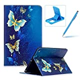 Leather Case for New iPad 9.7 2017,Flip Wallet Cover for New iPad 9.7 2017,Herzzer Stylish Pattern Magnetic Closure Purse Folio Smart Stand Cover with Card Cash Slot Soft TPU Inner Case for New iPad 9.7 2017