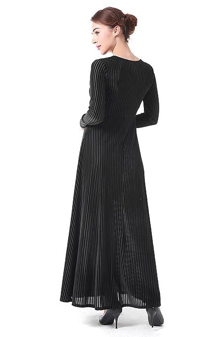 La Vogue Womens Velvet V-Neck Long Sleeve Prom Homecoming Cocktail Dress: Amazon.co.uk: Clothing