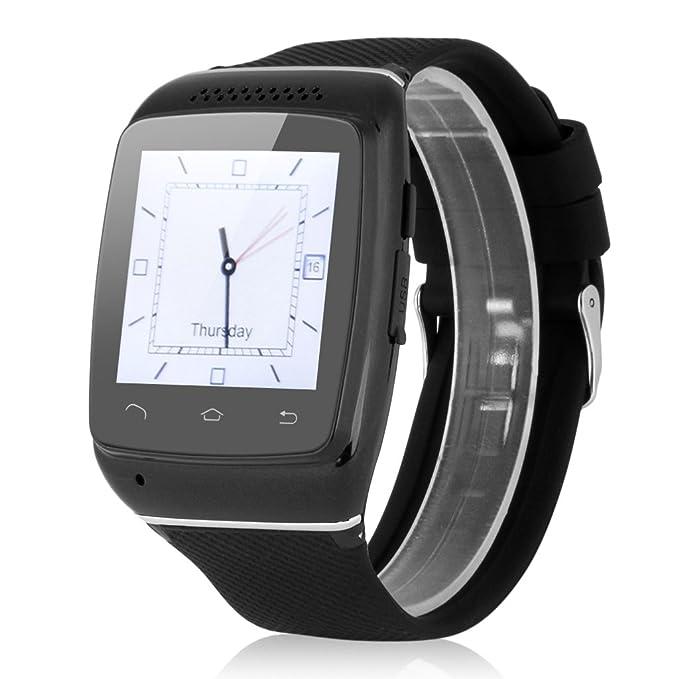 Excelvan KP62-B Smartwatch Bluetooth Reloj (Anti - perdió, Sincronización de llamada, SMS, Música, Tiempo Recordatorio) para Ios, Android
