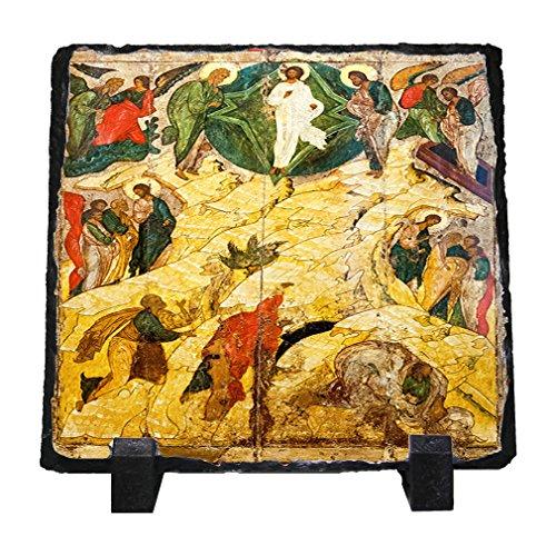 Russian Orthodox Icon Transfiguration Stone Slate Plaque Picture