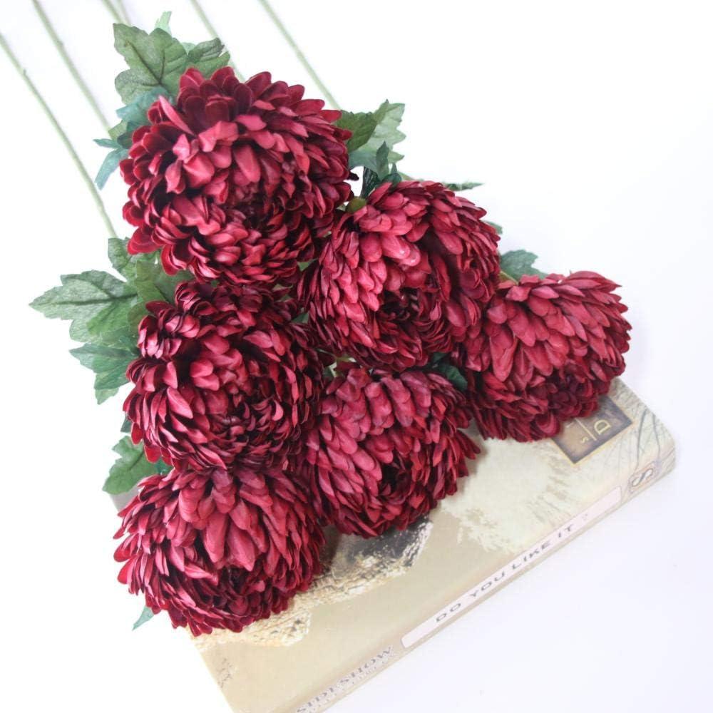 Flores Artificial Flor Artificial Piña Crisantemo Flores Artificiales Fiesta Decoración De La Boda Flores Falsas De Seda Decoración para El Hogar