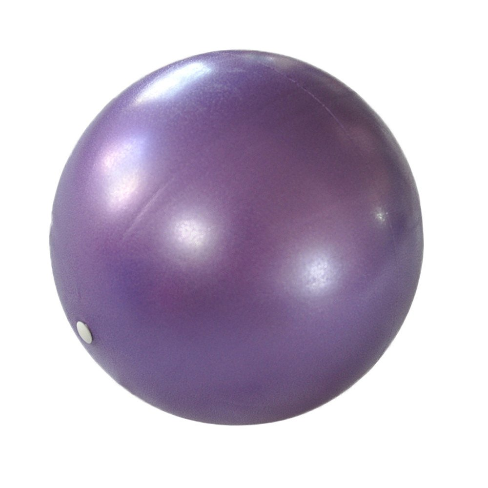 KNDDYY Mini Exercise Ball - 9.8 Inch Small Bender Ball for Stability, Barre, Pilates, Yoga, Core Training and Physical Therapy (Purple)