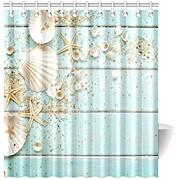 Amazon.com: Beach Clear Sea Sand Ocean High Quality Fabric Bathroom ...