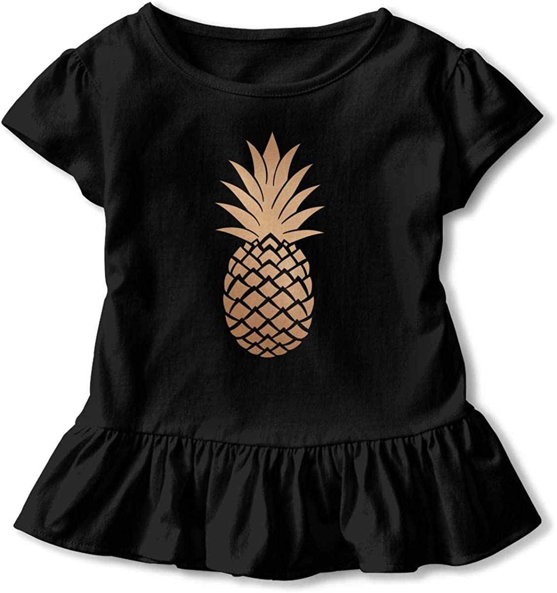 Fashion Creative Pineapple Baby Skirts Fashion Kids T Shirt Dress Short Sleeve Flounces Layette