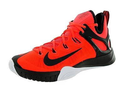 12ea7a4d7f6852 Nike Men s Air Zoom Hyperrev 2015 Basketball Shoe Bright  Crimson White Black Size 9.5