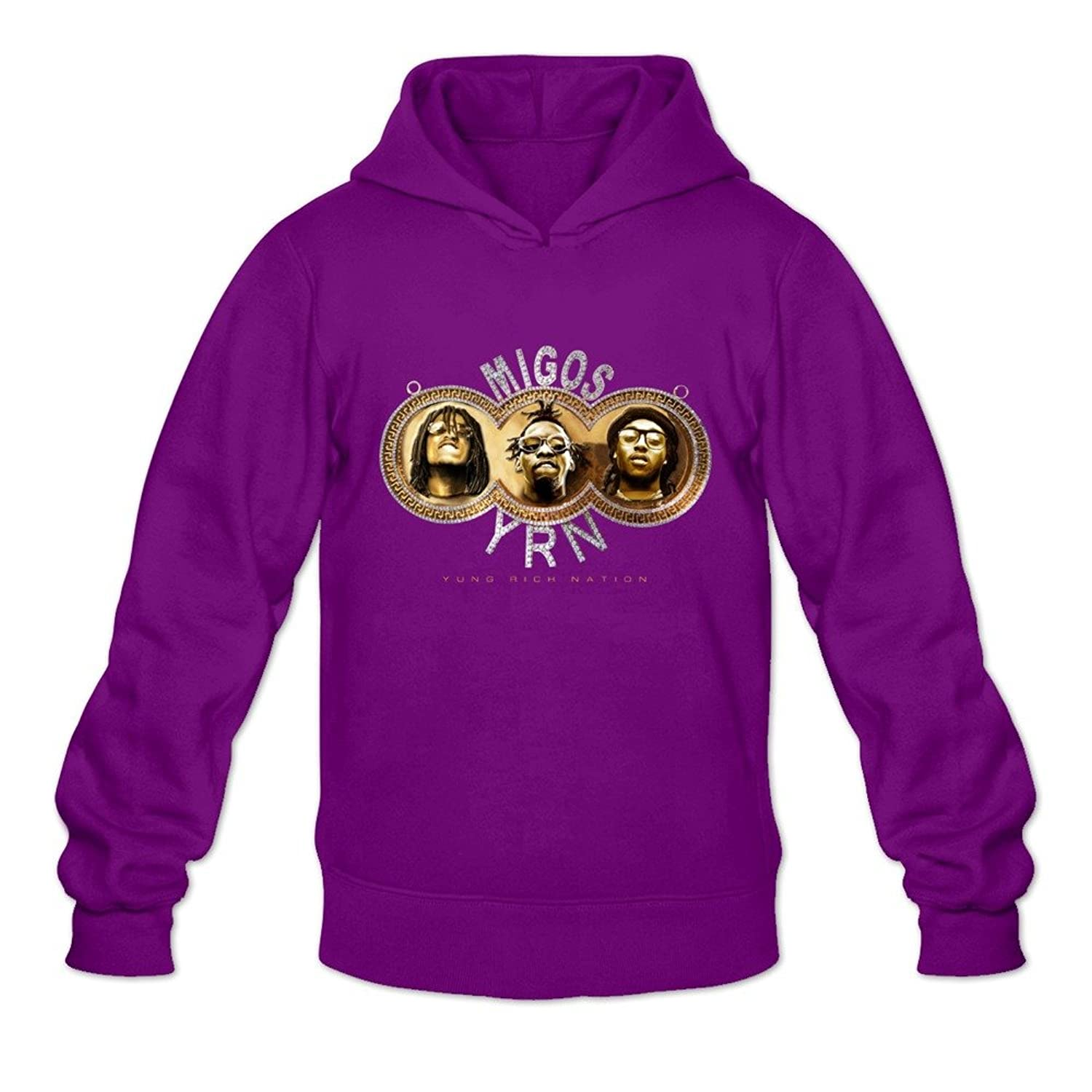 60%OFF Yung Rich Nation Migos Ambom Long-Sleeve Hoodies For Men White
