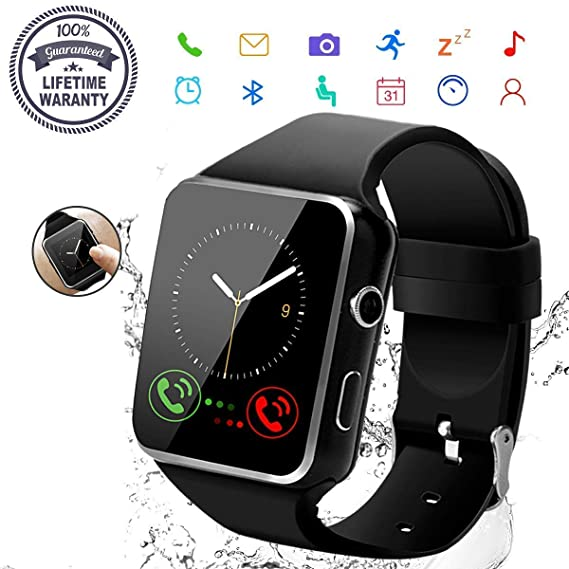 panoor Smart Watch,Bluetooth Smartwatch Touch Screen Wrist Watch with  Camera/SIM Card Slot,Waterproof Phone Smart Watch Sports Fitness for  Android