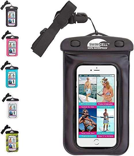 Swimcell Waterproof Phone Case 10 5cm X 17cm Iphone 6 7 8 9 10 Plus Samsung Mp3 Player Keys Money Holder Passport Cover Ipx8 Swimming 10m