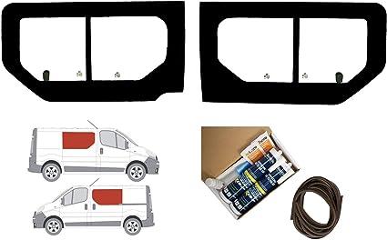 Mano izquierda y mano derecha ventana de apertura transparente doble para Opel Vivaro (2001 – 2014): Amazon.es: Coche y moto