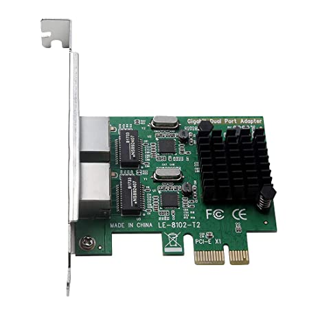 gazechimp 4 Port RJ45 Gigabit Ethernet PCI Express Network Controller Card Adapter