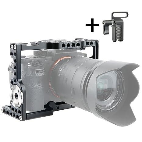 NICEYRIG A7III/A7R III/A7R II/A7S II/A7 II cámara Jaula con Cable ...