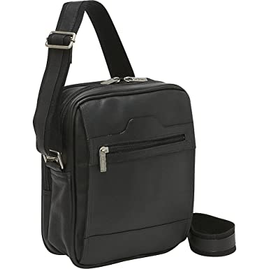 Amazon.com | Le Donne Leather Men's Day Bag (Black) | Messenger Bags