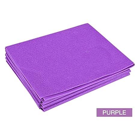 Fuitna Estera De Yoga Plegable PVC Delgada Antideslizante ...