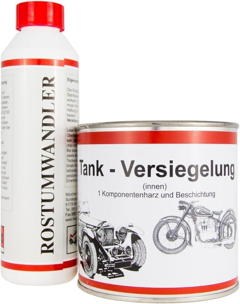 Original Mos Tankversiegelung Rostumwandler Im Set Bis 70 Liter Tankvolumen Auto