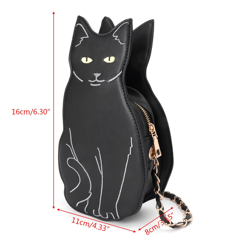 Amazon.com  JAGENIE Cute Black Cat Women Leather Handbags Purse Crossbody  Shoulder Messenger Bags  Home   Kitchen b00999d92a