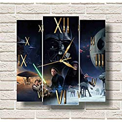 STAR WARS 11.8'' Handmade Wall Clock - Get unique décor for home or office – Best gift ideas for kids, friends, parents and your soul mates