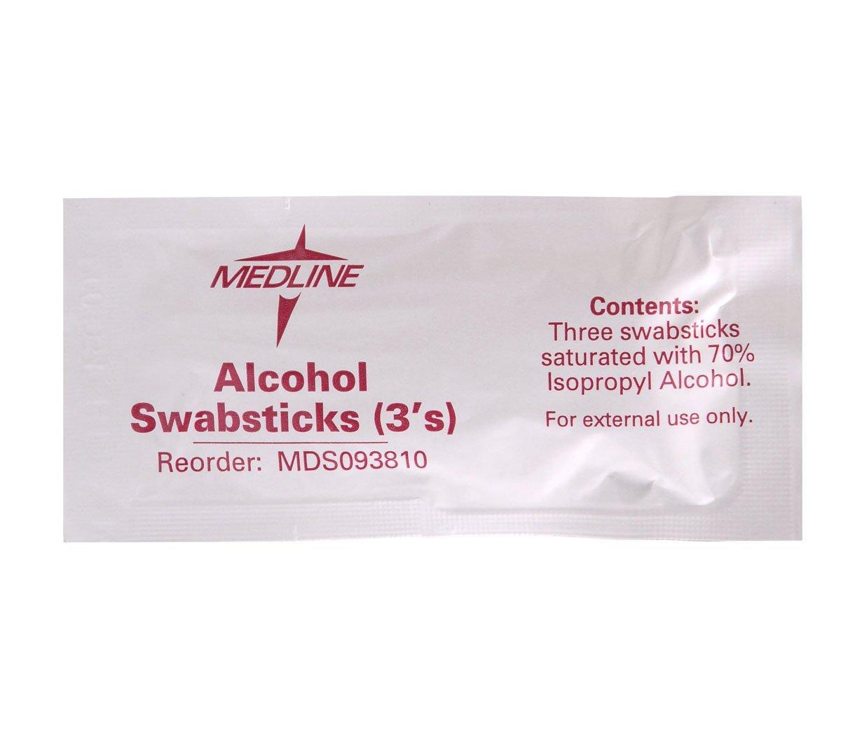 Medline MDS093810H Swabstick, Alcohol