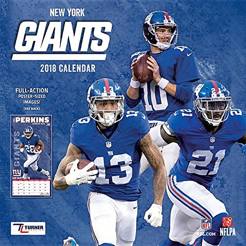 New York Giants 2018 Calendar: Full-action Poster-sized Images! ()