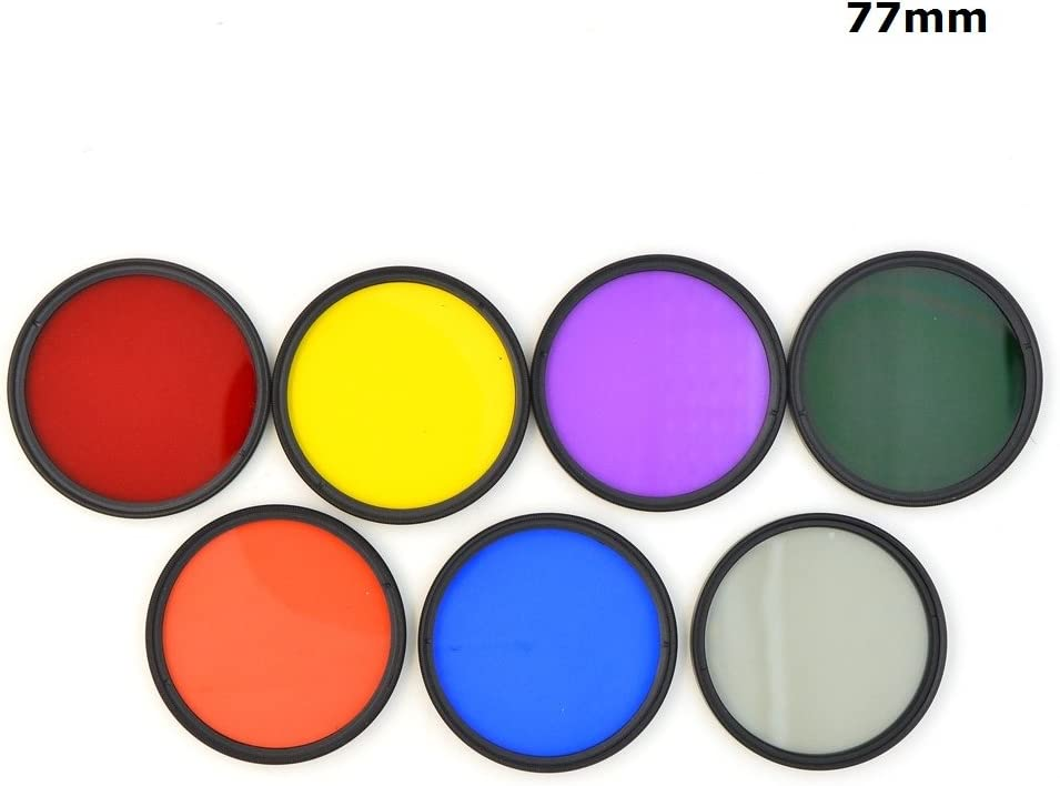 77mm 7pcs 1Set 40.5mm 43mm 46mm 49mm 52mm 55mm 58mm 62mm 67mm 72mm 77mm 7Pcs Full Color Green Orange Red Purple Yellow Blue Grey Lens Filter Protector