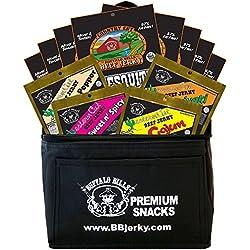 Buffalo Bills 12-Piece Beef Jerky Sampler Black 6-Pack Gift Cooler (12 assorted 1.5oz jerky packs)