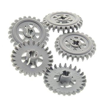Bausteine Gebraucht 5 X Lego Technic Zahnrad Neu Hell Grau 24 Zähne