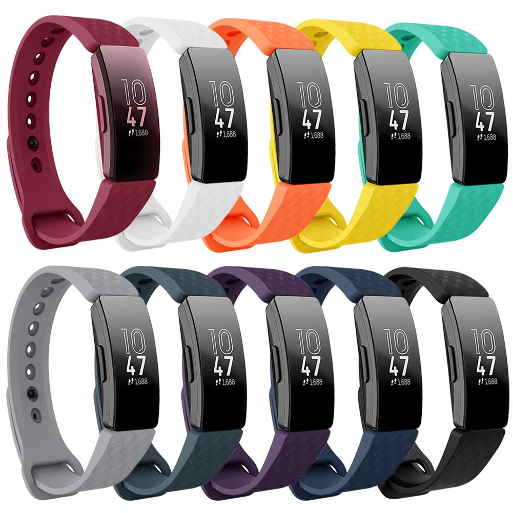 findway Compatible with Fitbit Inspire HR Bands/Inspire Band, Adjustable Soft Silicone Inspire Straps for Women Men Sports Replacement Accessories Bands for Inspire/Inspire HR Fitness Tracker