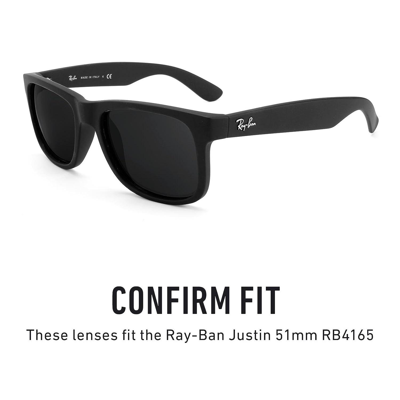 Revant Ersatzlinsen für Ray Ban Justin 54mm RB4165 Polarisierung Emerald Grün MirrorShield® 7PhOKZzv8d