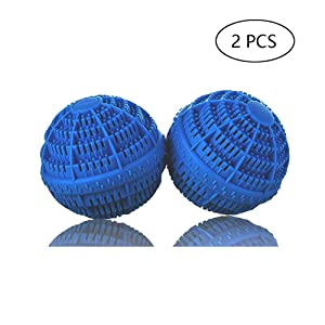 BERON Set of 2 Eco-Friendly Laundry Balls for 1500 Washings (Deep Blue)