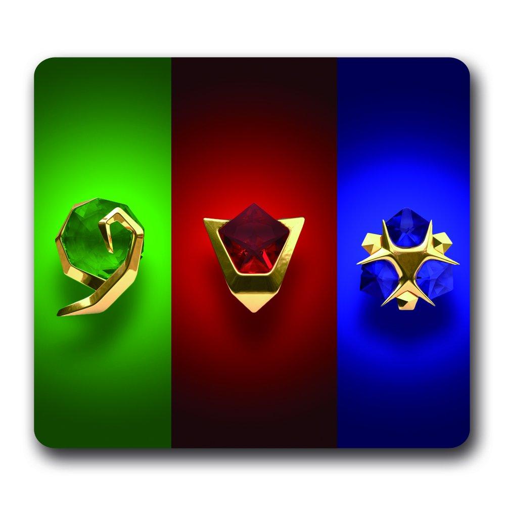 Jeu vidéo The Legend of Zelda en néoprène résistant à l'eau Gaming Mouse Pad, 25,4x 22,9x 0,5cm Majora's Mask Art Lune color-9p4