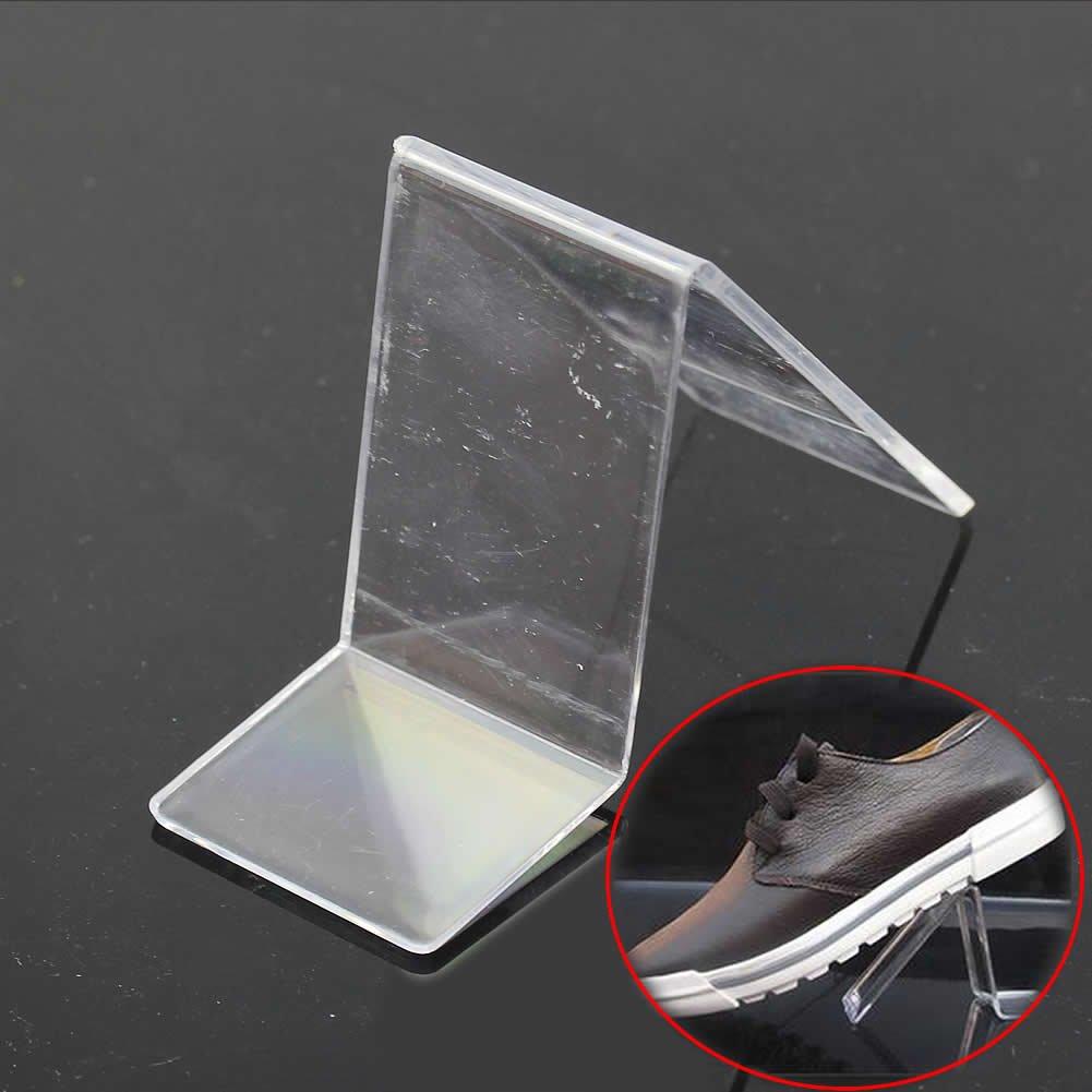 Estante acr/ílico en forma de V para tienda de zapatos de alta calidad expositor de venta al por menor