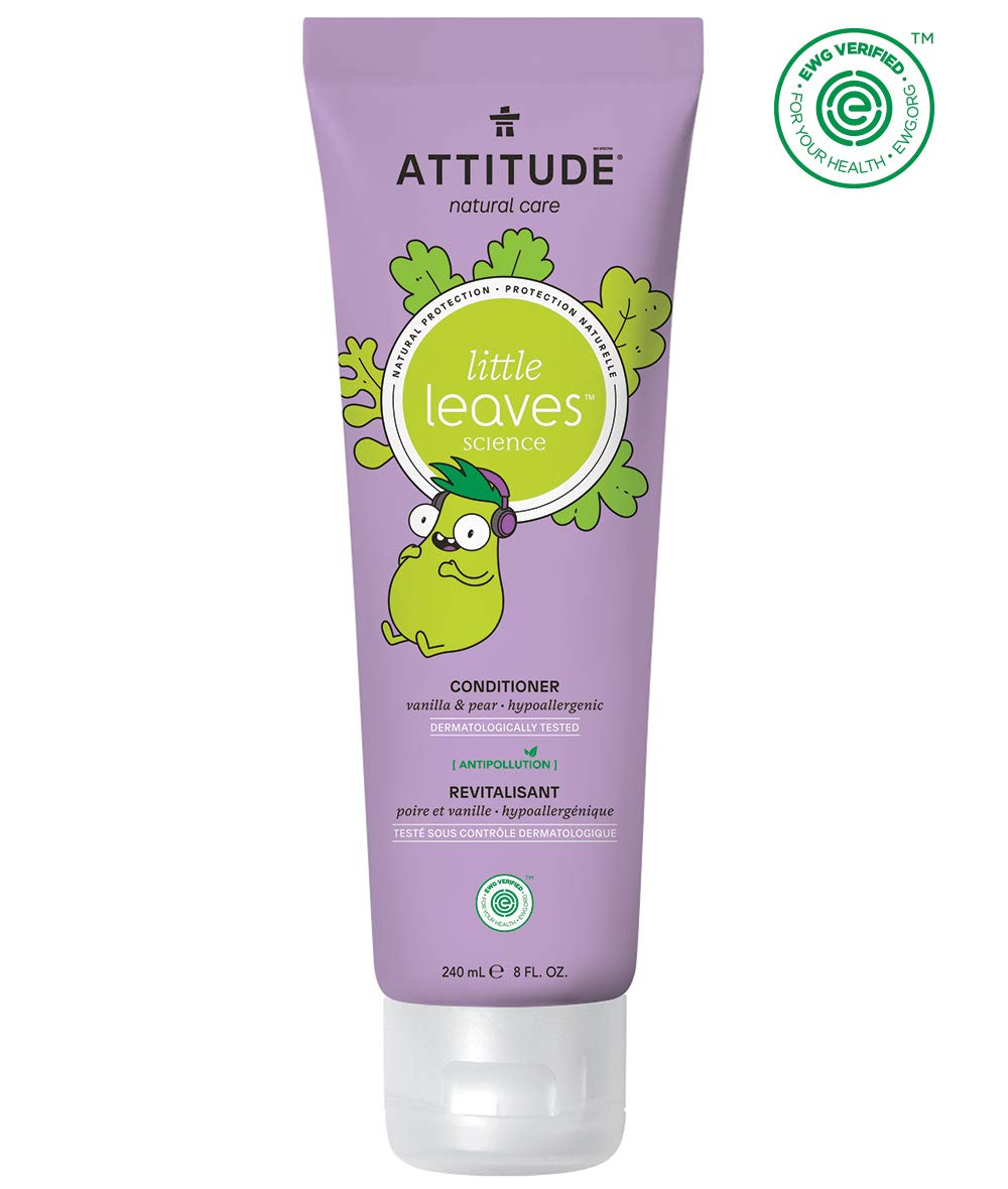 ATTITUDE Little Leaves Hypoallergenic and Natural Conditioner, Vanilla and Pear, 8 Fluid Ounce by Attitude