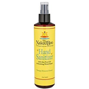 The Naked Bee Hand Sanitizer - Orange Blossom Honey Pump 8oz - Antiseptic Decreases Bacteria on Hands - Orange Blossom Honey Hand Sanitizer (1 Pack)