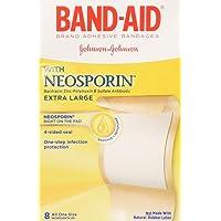 B-A Antibiotic XL Aos Size 8ct Band-Aid Extra Large Plus Antibiotic