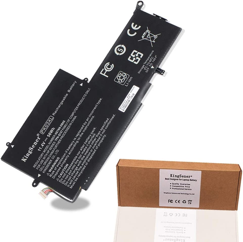 KingSener PK03XL 11.4V 56WH Battery for HP Spectre Pro X360 Spectre 13 PK03XL HSTNN-DB6S 6789116-005