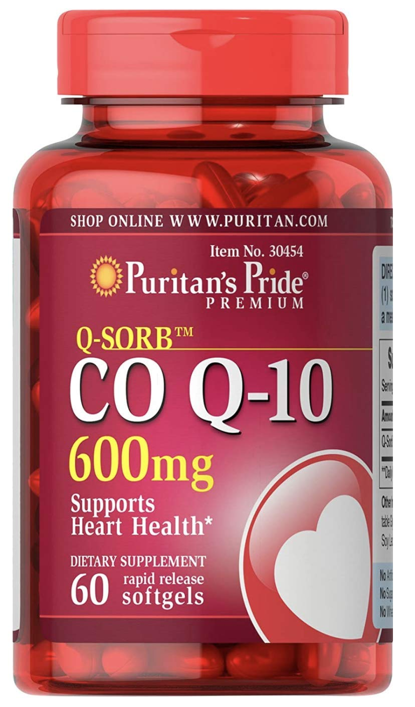 Q-Sorb CoQ10 600mg, Supports Heart Health,60 Rapid Release Softgels by Puritan's Pride